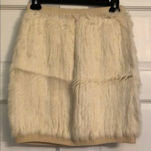 Vintage Milly rabbit knit mini skirt